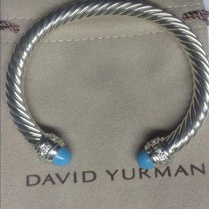 David Yurman Turquoise &Diamond Bangle 7mm